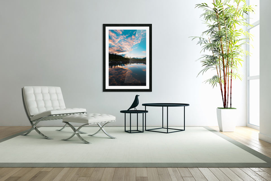 Sunset Reflection in Custom Picture Frame