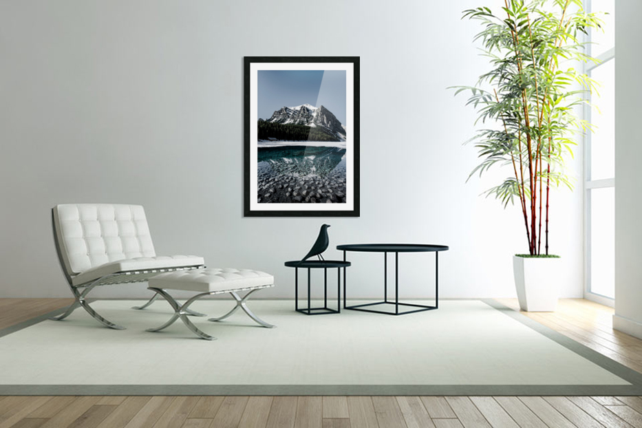 Lake Louise Reflection in Custom Picture Frame