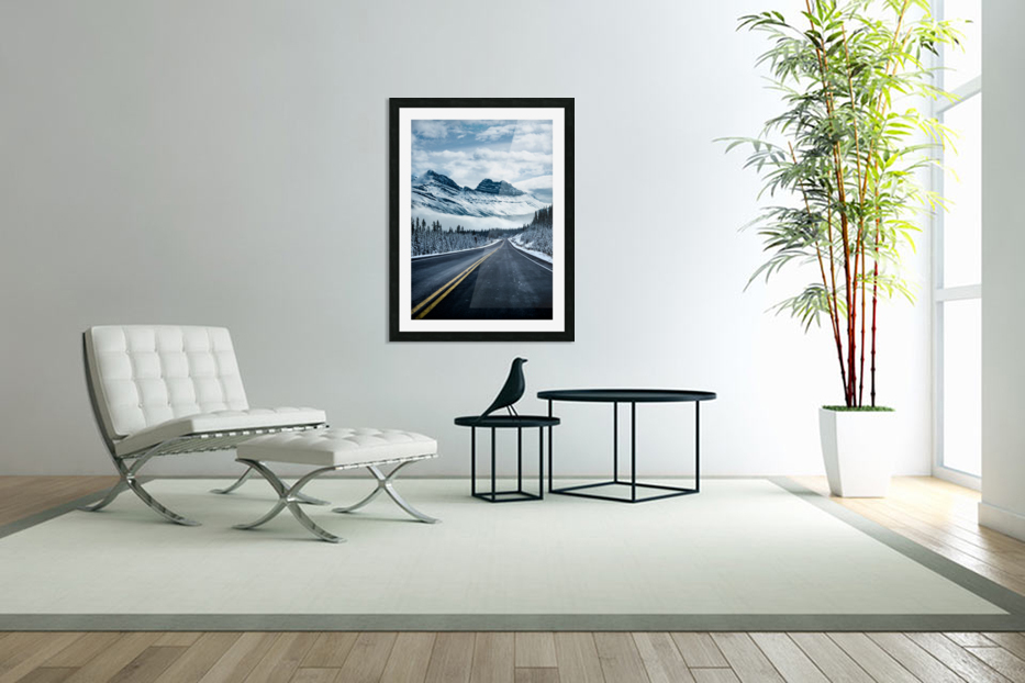 Icy Roads in Custom Picture Frame
