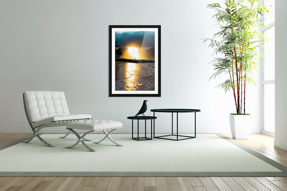 Tropical Sunset in Custom Picture Frame
