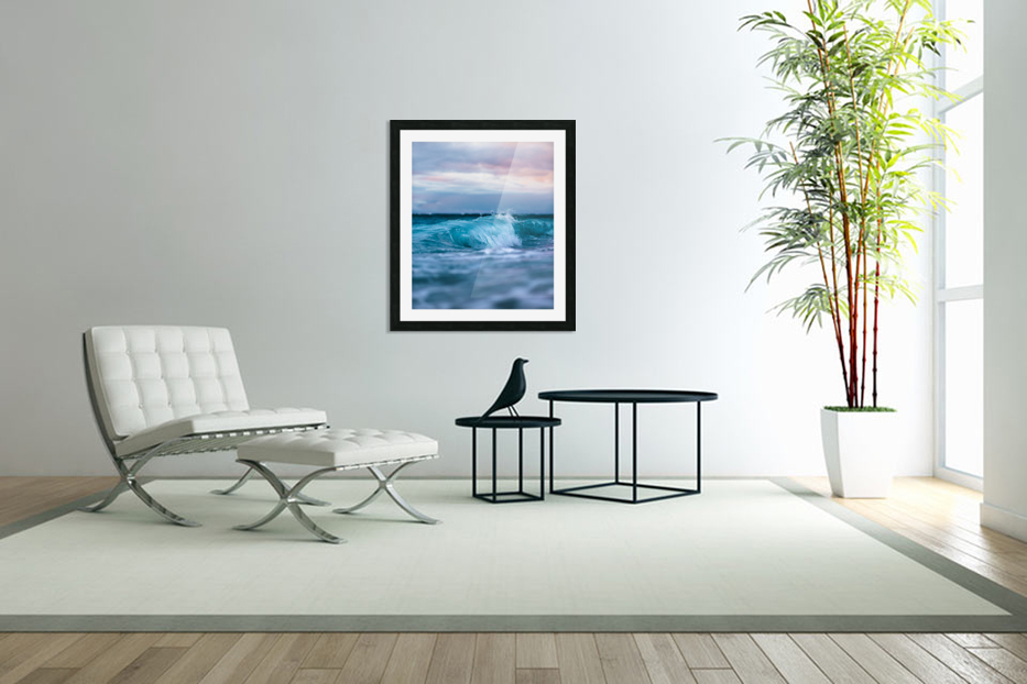 Blue Waves in Custom Picture Frame