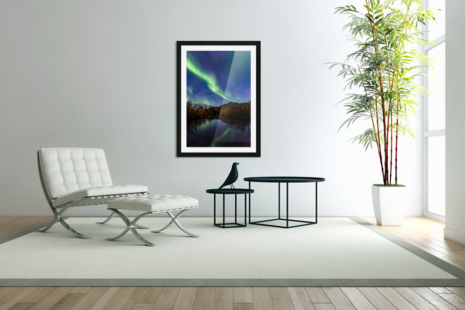Northern Lights Reflection in Custom Picture Frame
