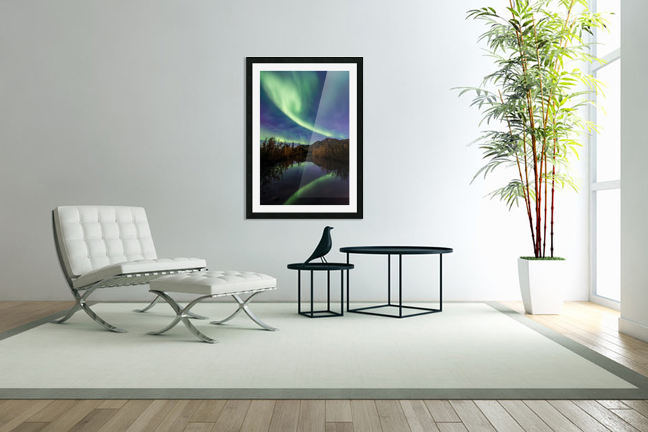 Aurora Reflections in Custom Picture Frame