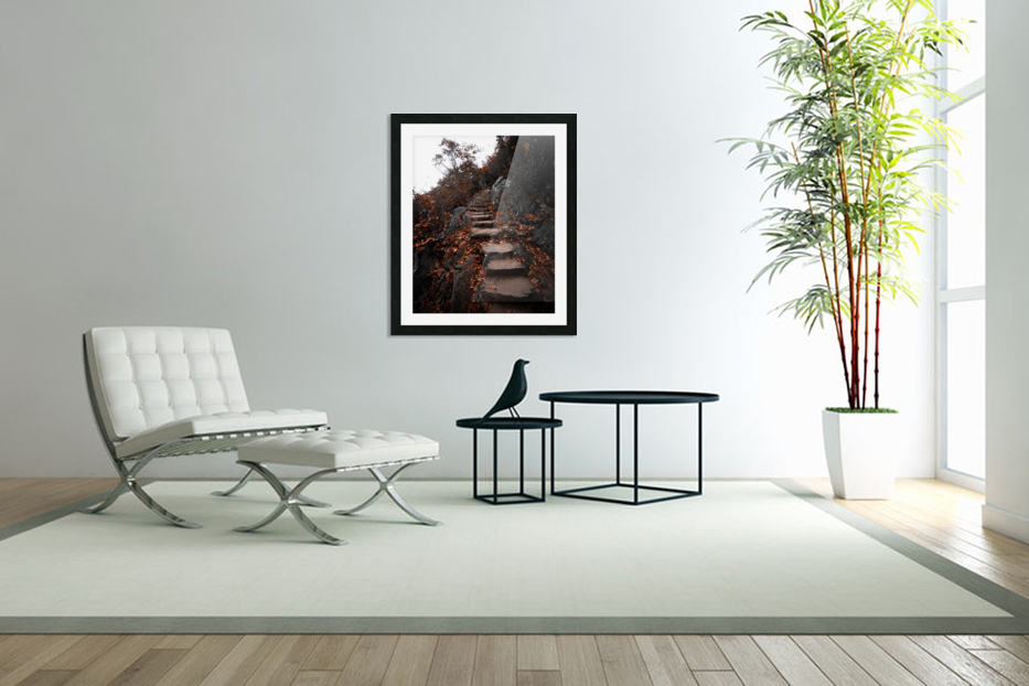 Autumn Path in Custom Picture Frame