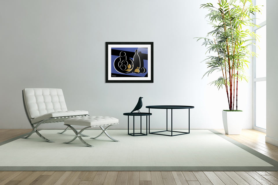 Still Life with a Bottle in Custom Picture Frame