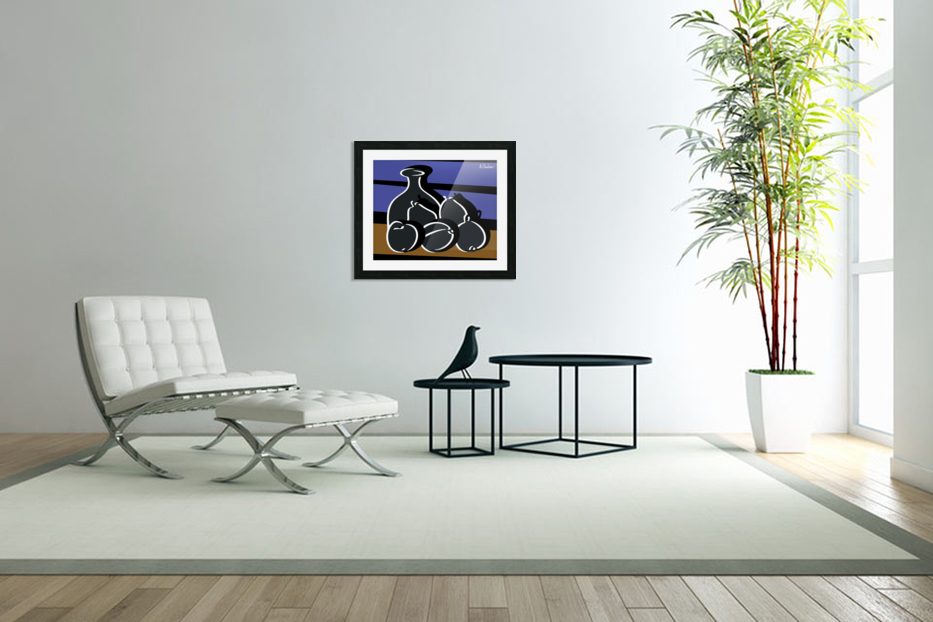 Still Life with a Vase in Custom Picture Frame