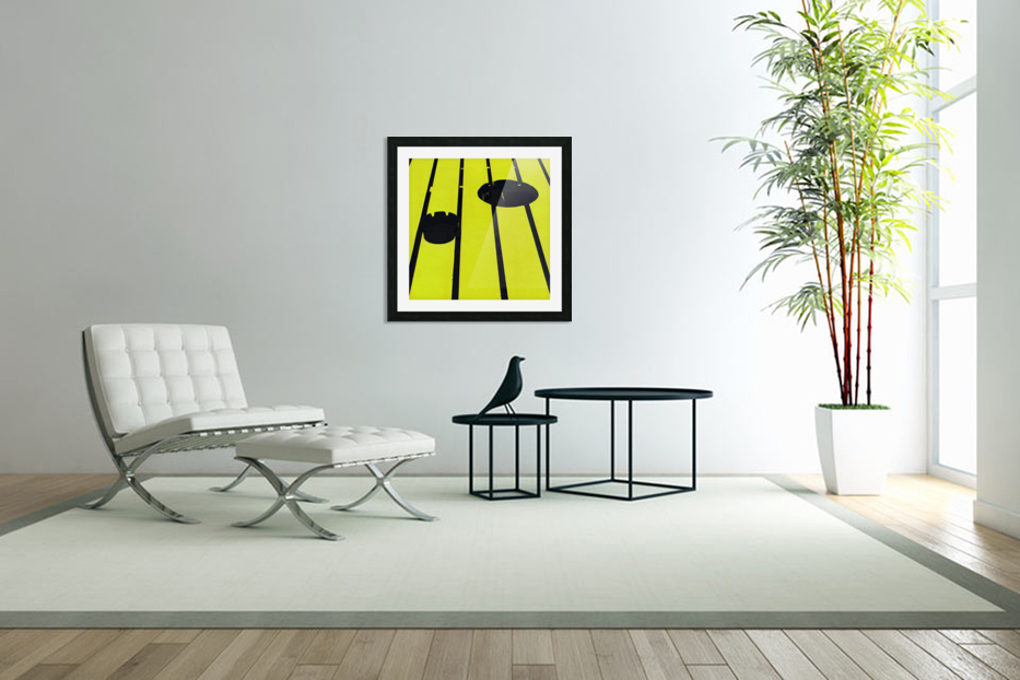 Yellow - urban pop art - square in Custom Picture Frame