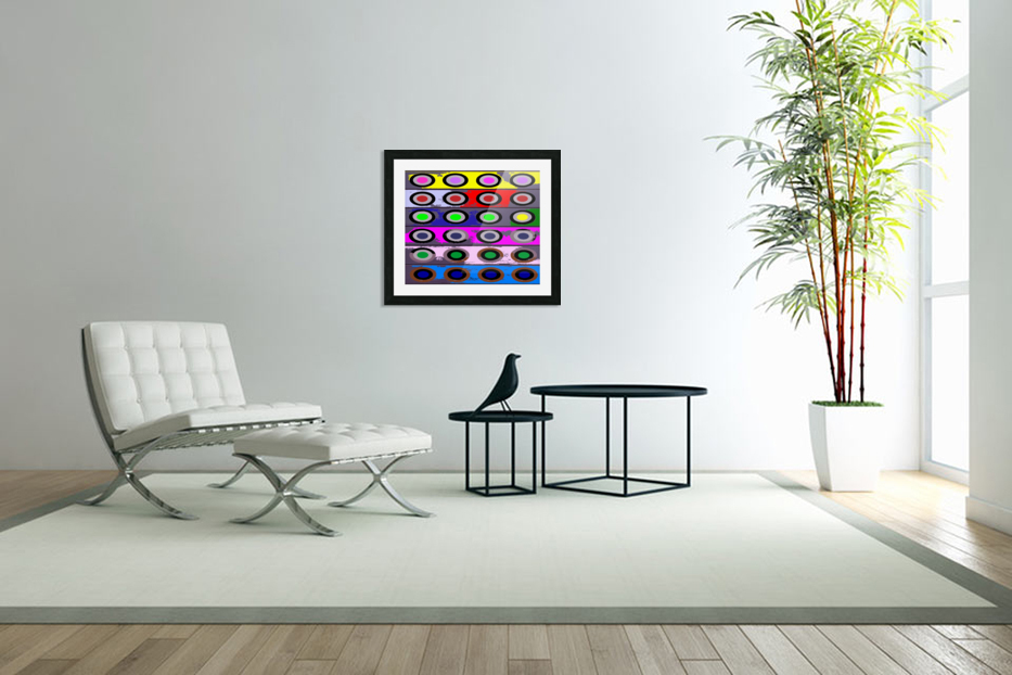 Circle Crazy by dePace in Custom Picture Frame