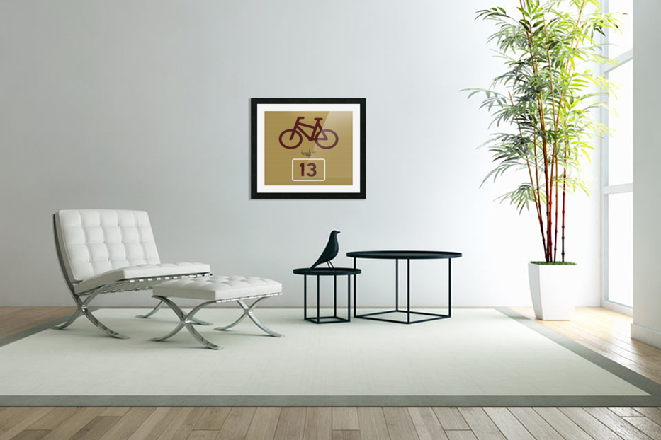 Bike Route number 13 in Custom Picture Frame