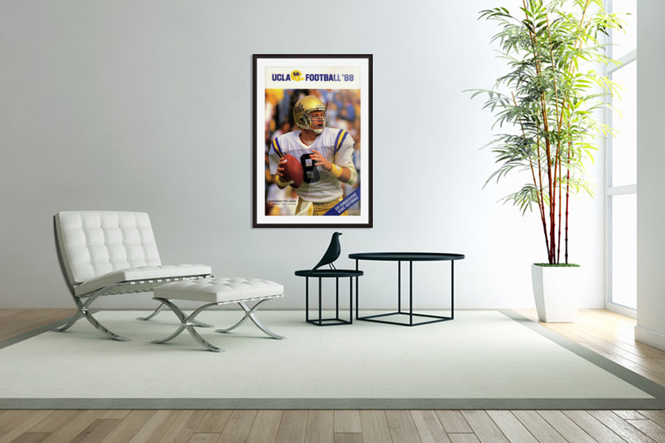1988 Troy Aikman UCLA Football Poster in Custom Picture Frame