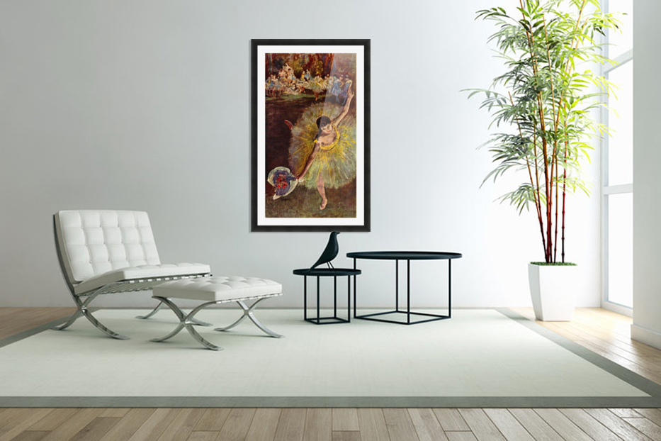 End of the arabesque by Degas in Custom Picture Frame