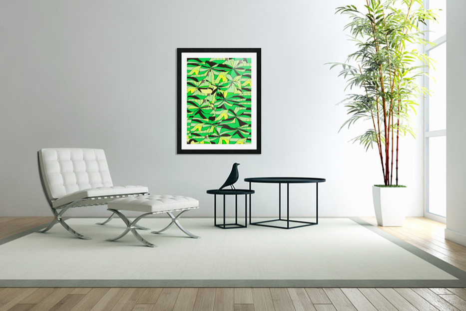 Yellow Fields in Custom Picture Frame