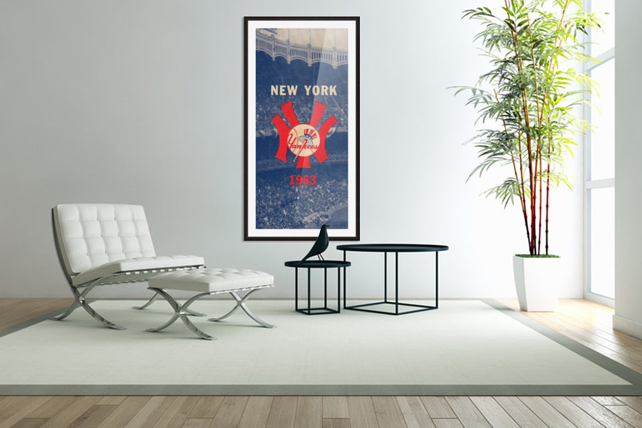 1963 New York Yankees Baseball Cover Art by Row One Brand  in Custom Picture Frame