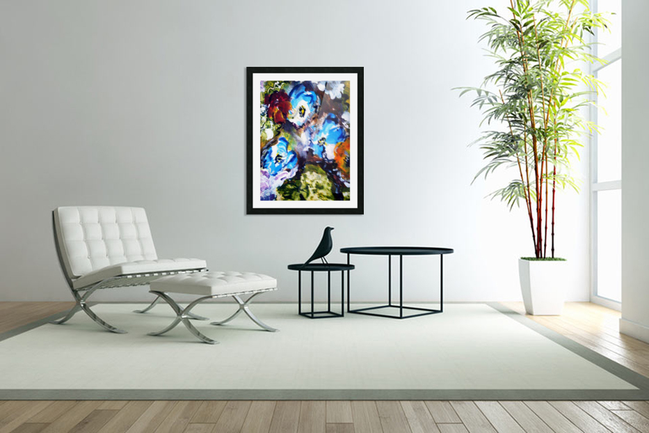 Primary Blue1 in Custom Picture Frame