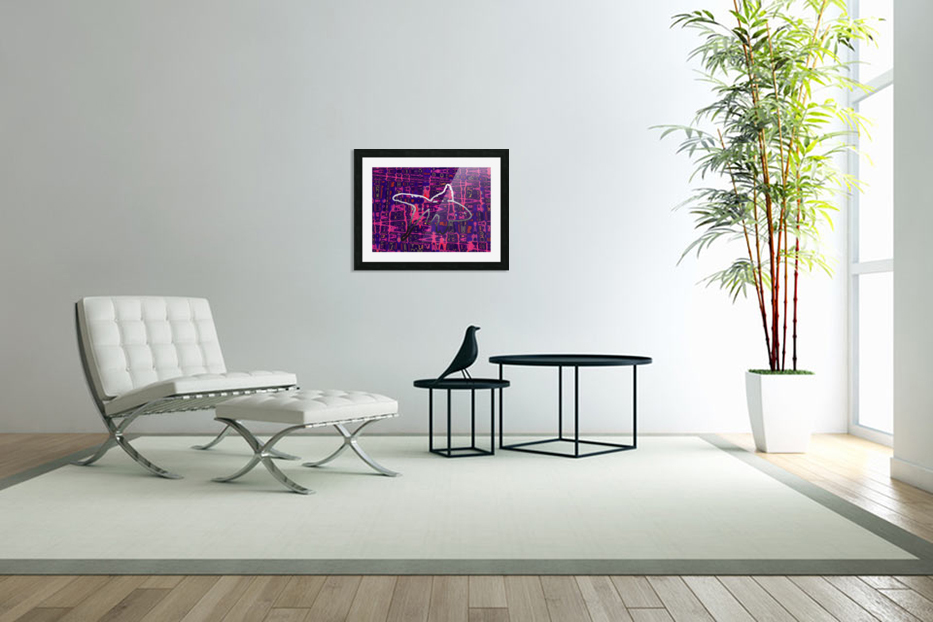 Abstract Fish in Custom Picture Frame
