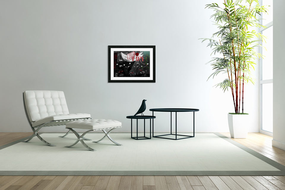 Surf Fire in Custom Picture Frame