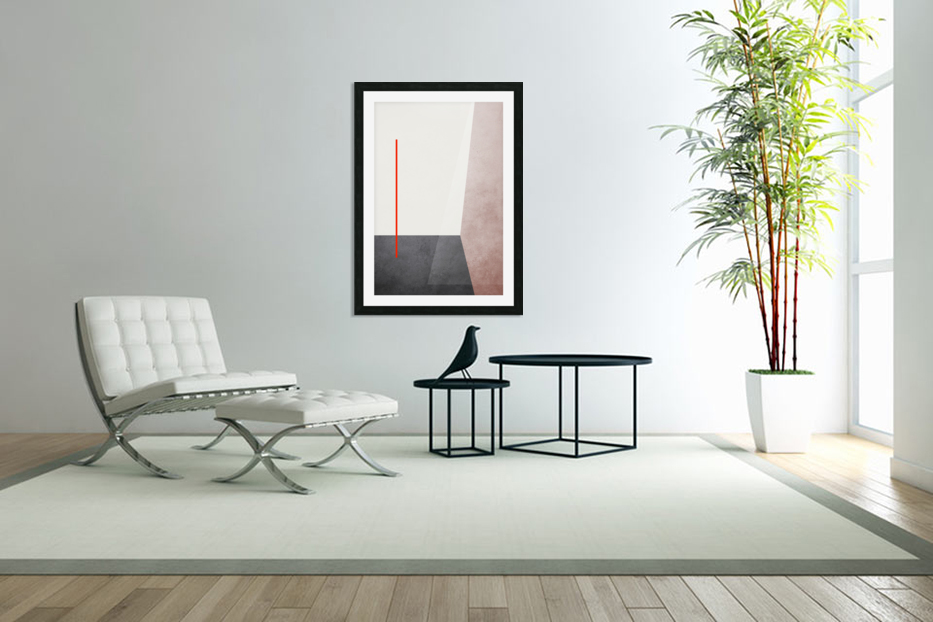 Shapes 04 - Abstract Geometric Art Print in Custom Picture Frame