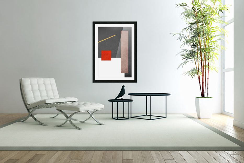 Shapes 03 - Abstract Geometric Art Print in Custom Picture Frame