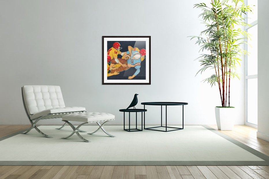 Classic Vintage Football Art  in Custom Picture Frame