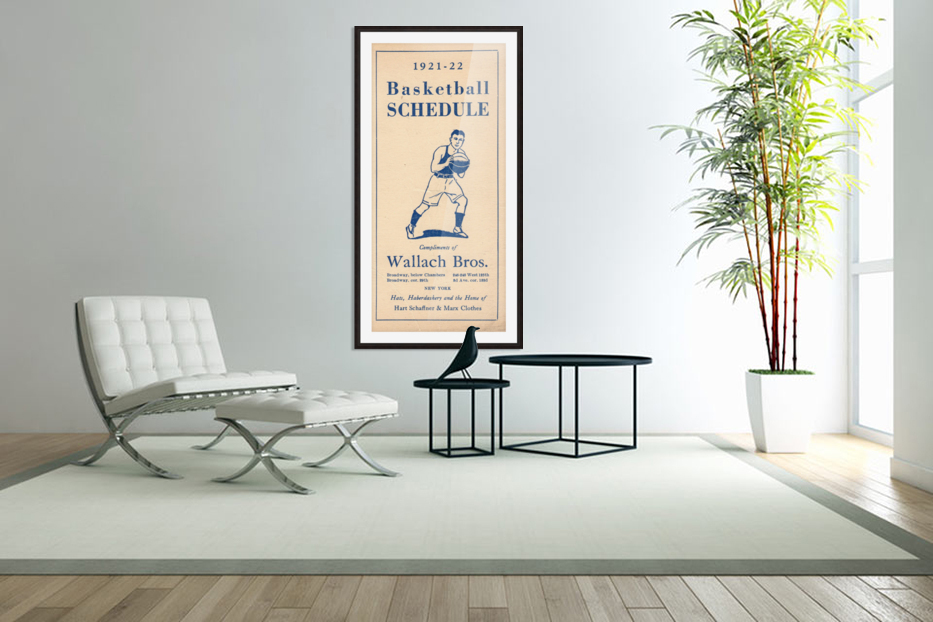 1921 Basketball in Custom Picture Frame