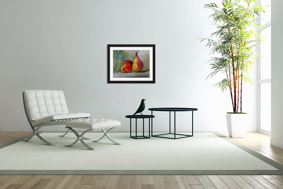 Pears in Custom Picture Frame