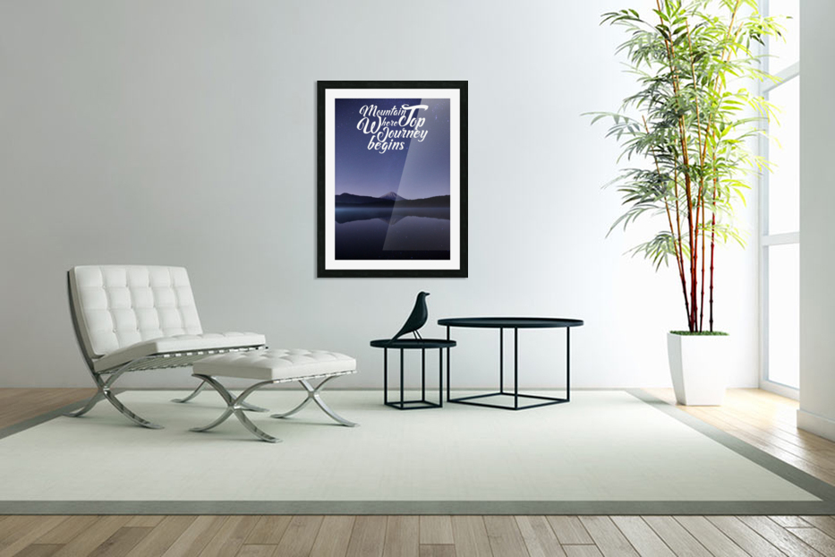 Mountain Top Journey in Custom Picture Frame