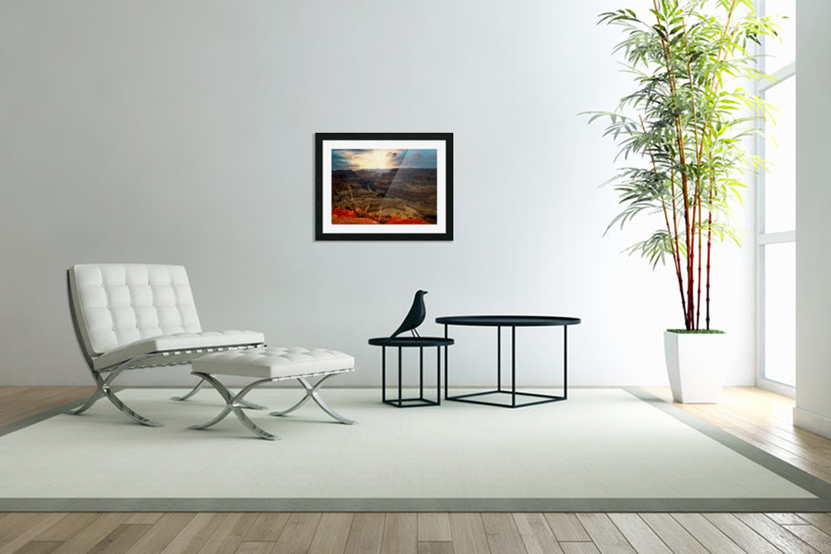 Sunrise over Grand Canyon in Custom Picture Frame