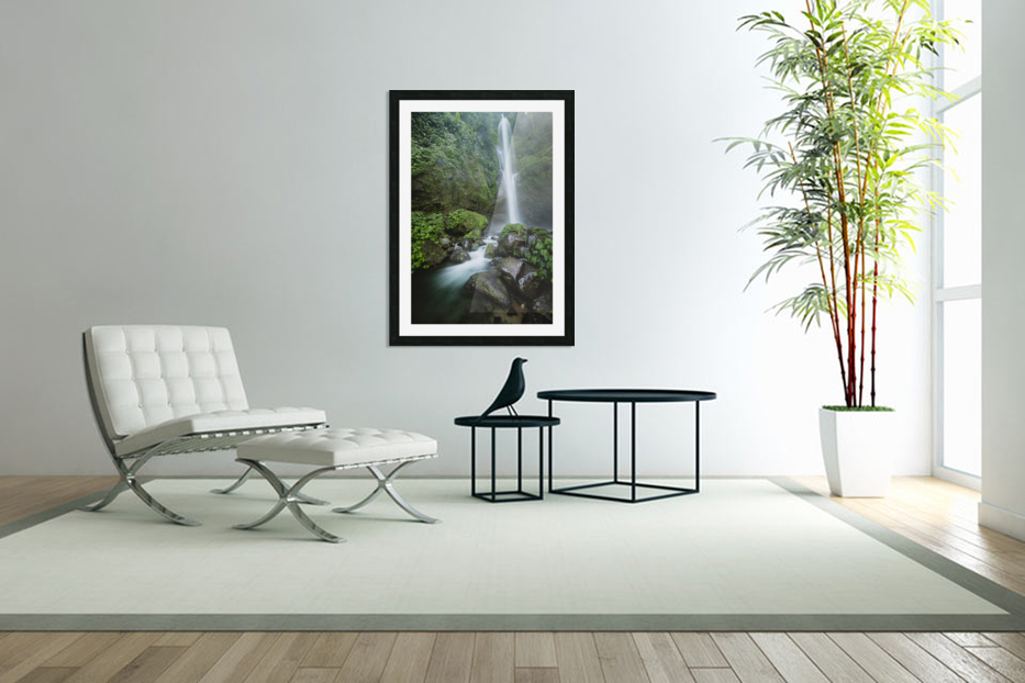 Sekumpul Waterfall  in Custom Picture Frame