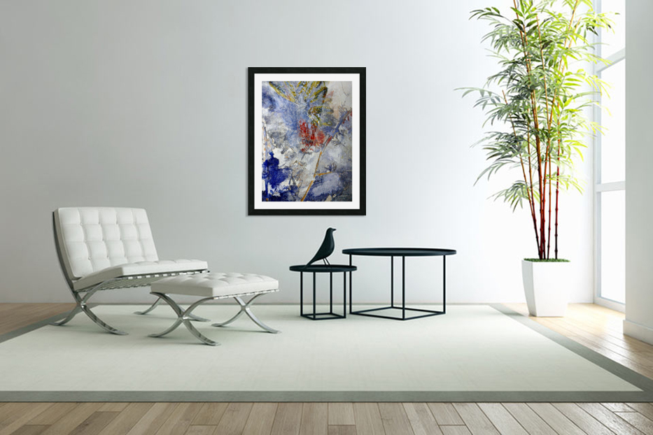 Abstract Single in Custom Picture Frame
