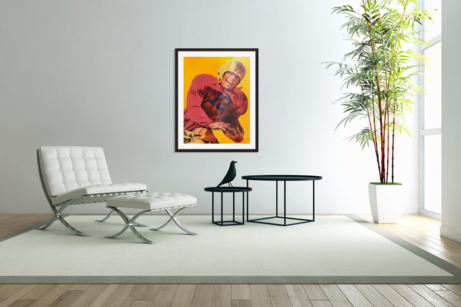 Vintage Football Poster_Football Prints Wall Art Posters in Custom Picture Frame