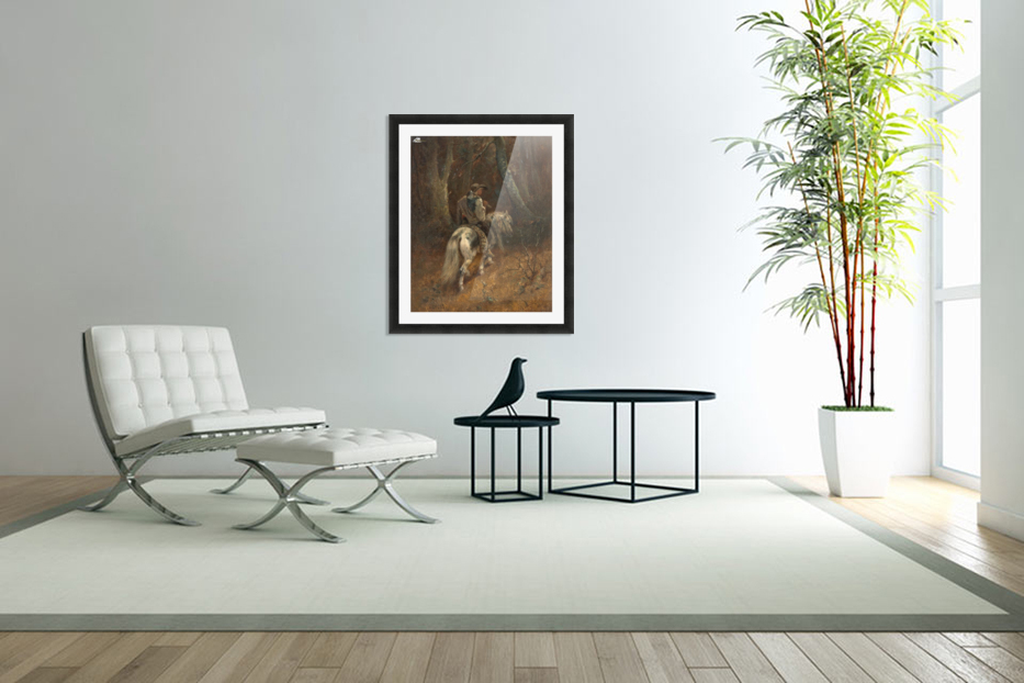 Reiter im Wald in Custom Picture Frame