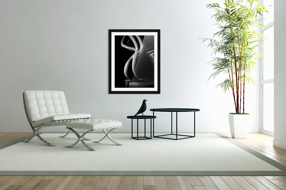 Nude buttocks on chair in Custom Picture Frame