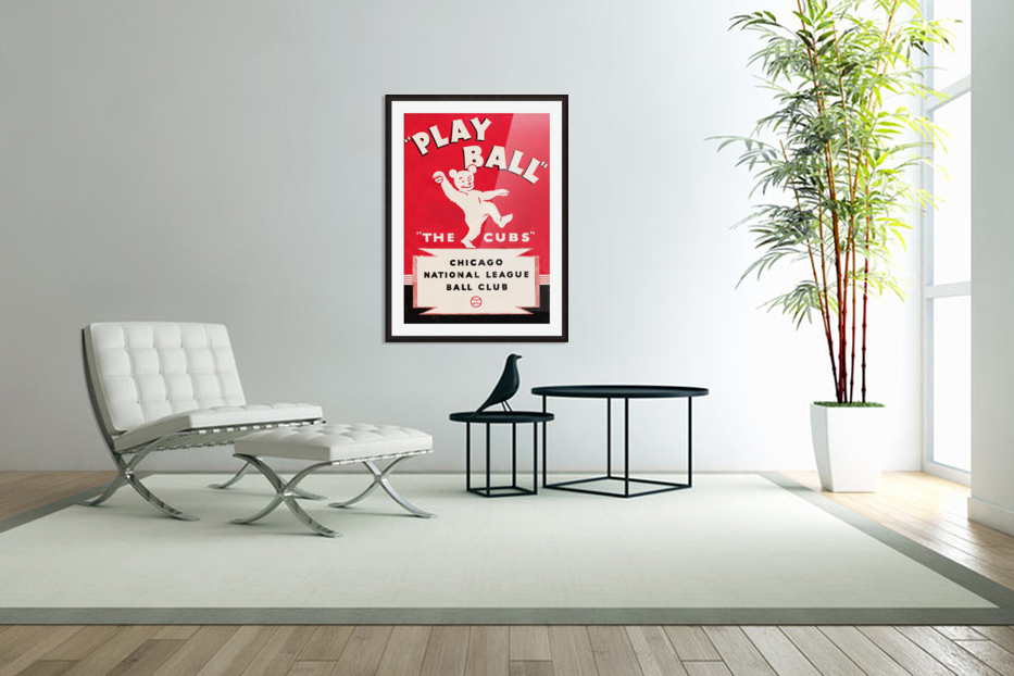 1934 Chicago Cubs  in Custom Picture Frame