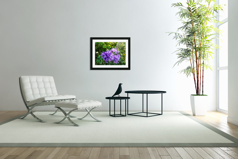 Violet flowers in Custom Picture Frame