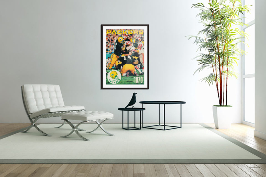 Green Bay Packers Football Poster Row One Brand Sports Art in Custom Picture Frame