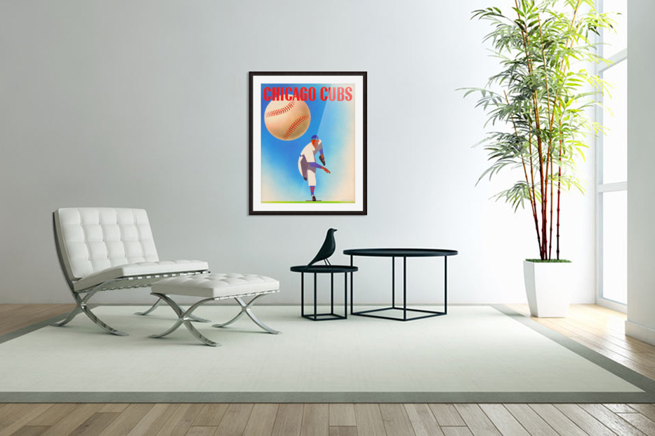 Otis Shepard Remix_Public Domain Sports Art Remixes_Chicago Cubs Poster by Row One in Custom Picture Frame