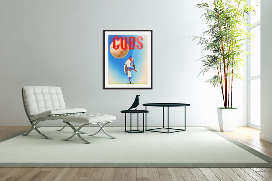 Cubs Art in Custom Picture Frame