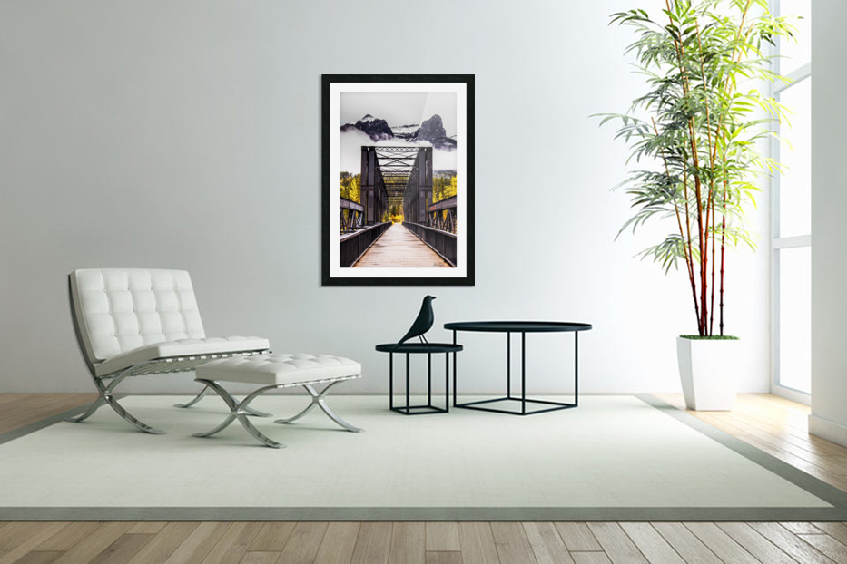 The Engine Bridge Canmore in Custom Picture Frame
