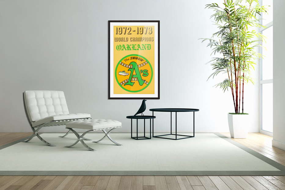 1972 Oakland Athletics World Champions in Custom Picture Frame