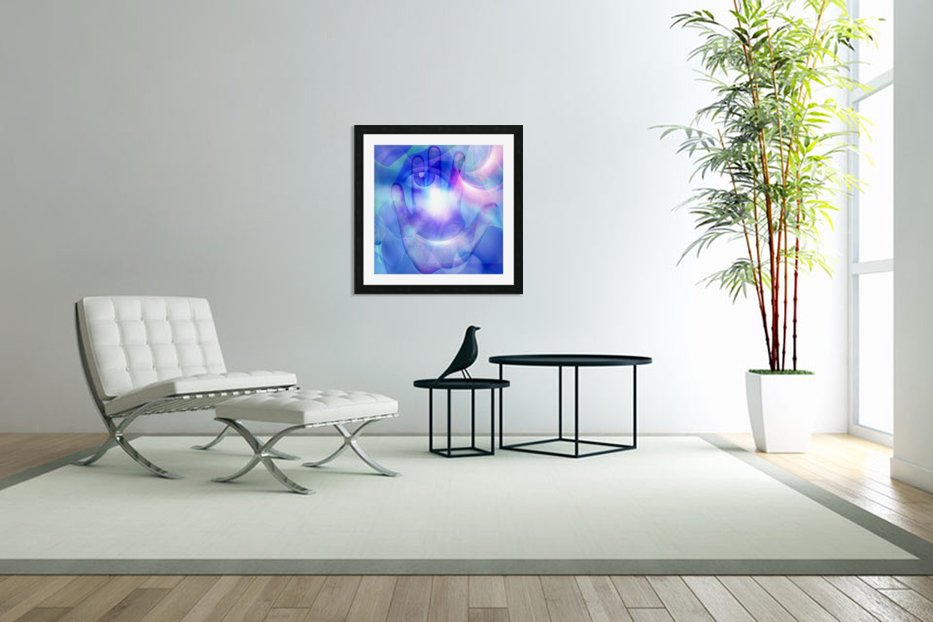 Human Eye and Palm in Custom Picture Frame