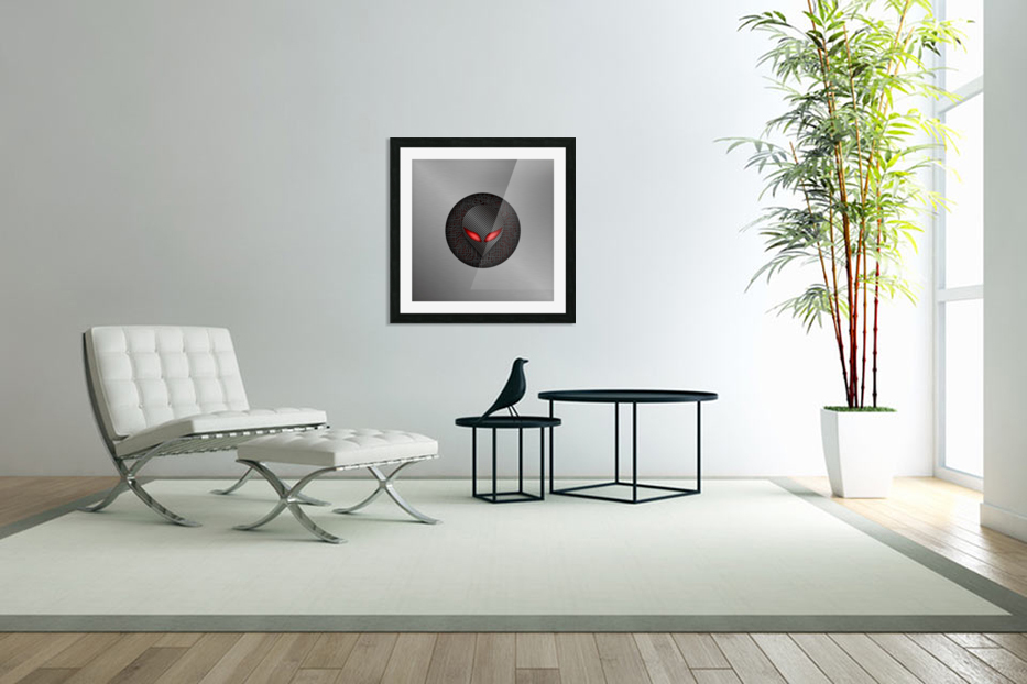 Altered Carbon Red Eye Demon in Custom Picture Frame