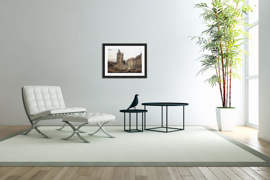 City ruins in Custom Picture Frame