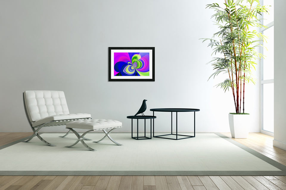 PSYCHEDELIC BUTTERFLY 2 in Custom Picture Frame
