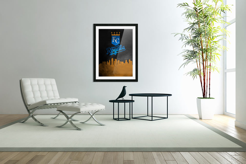 Kansas City Royals in Custom Picture Frame