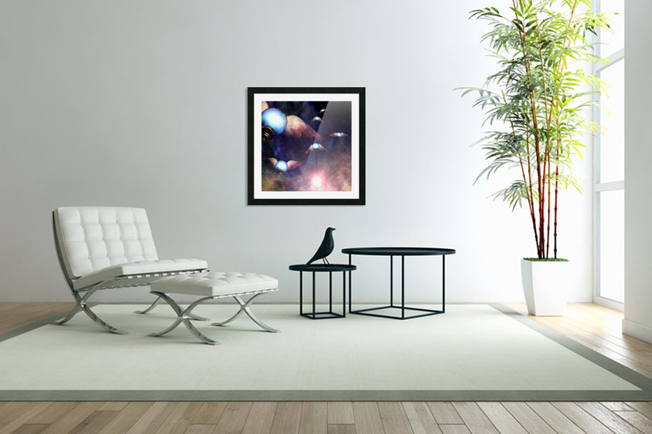 Winged Light Bulbs in Custom Picture Frame
