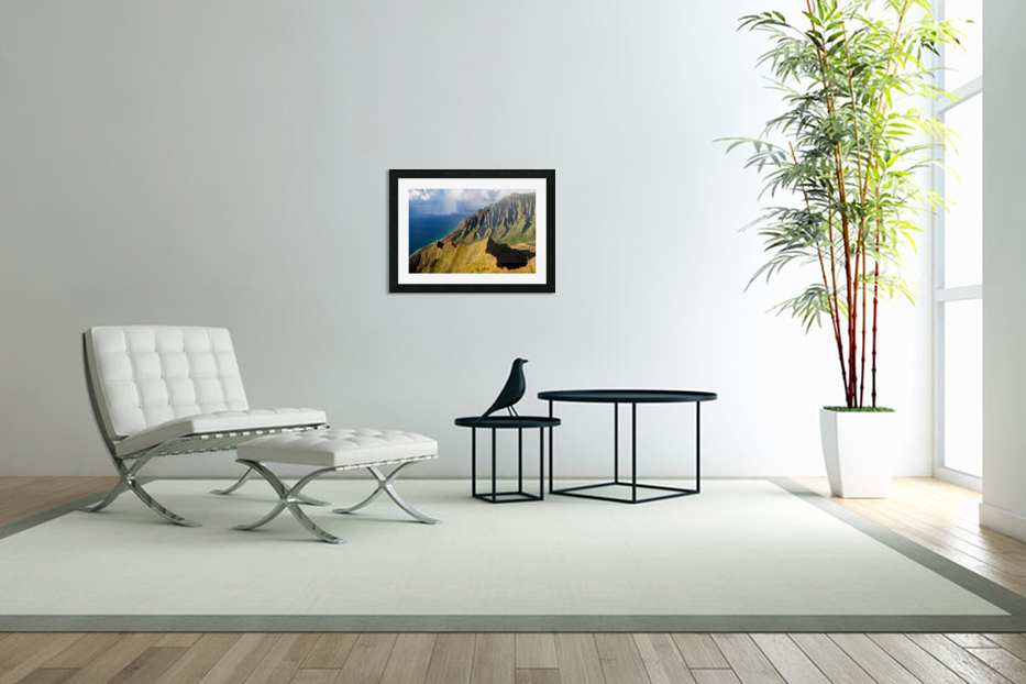 The Cliff Sides of Kauai in Custom Picture Frame