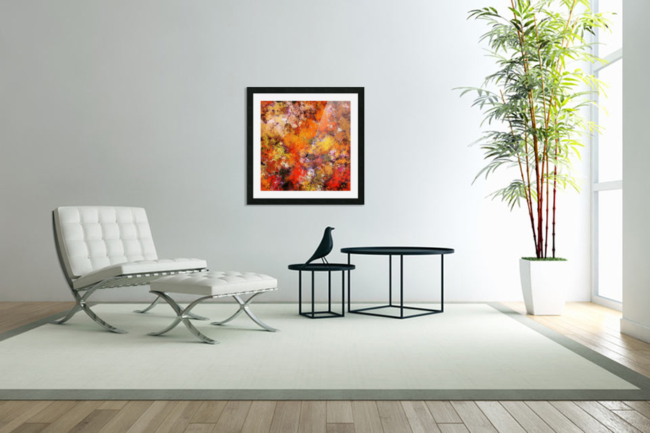 A jumping orange horse in Custom Picture Frame