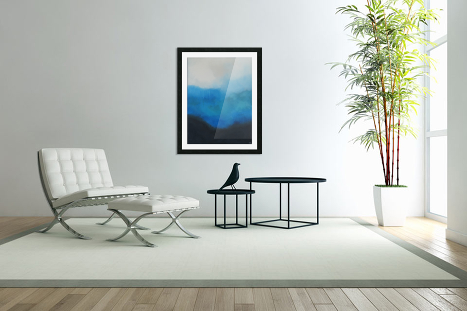 Tranquility Blue II. in Custom Picture Frame