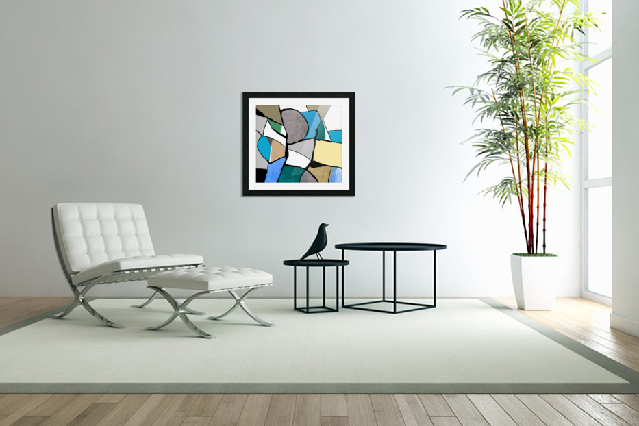 Meeting of Colors in Custom Picture Frame