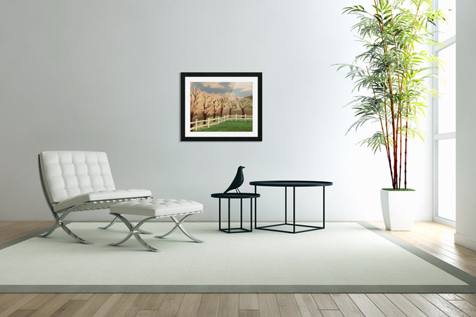 Trees In Bloom in Custom Picture Frame